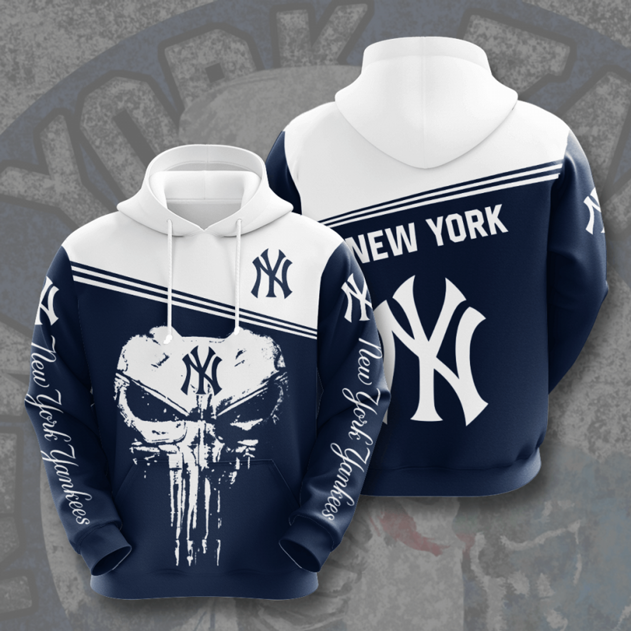 Custom Yankee Style HOODIE Personalized Baseball Sweatshirt All Sizes /& Colors