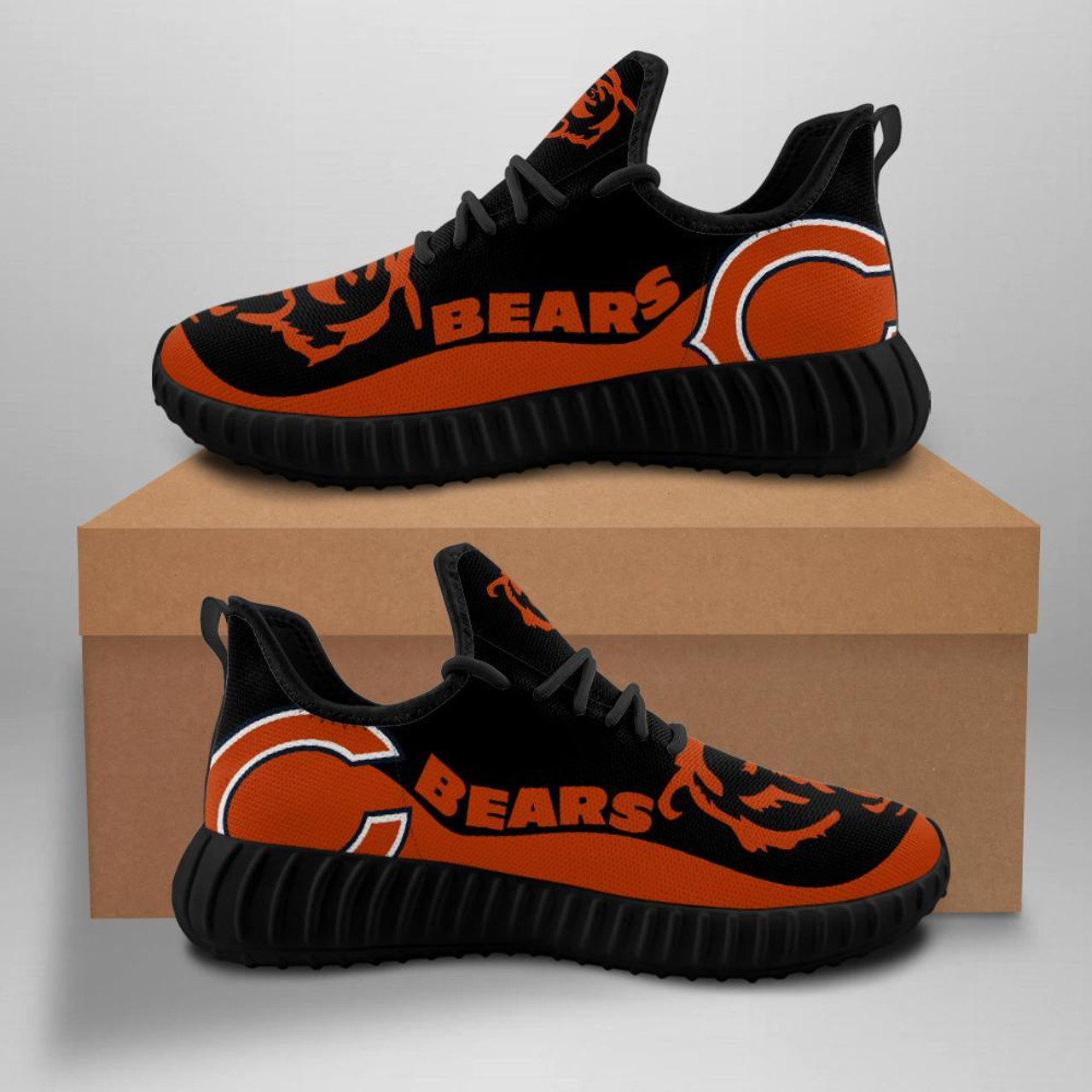 **(OFFICIAL-CHICAGO-BEARS-TEAM-BLACK-FASHION-SPORT-SHOES/CUSTOM-DETAILED-3D-GRAPHIC-PRINTED-DOUBLE-SIDED-DESIGN/OFFICIAL-CUSTOM-BEARS-LOGOS & CLASSIC-OFFICIAL-BEARS-BLACK & ORANGE-TEAM-COLORS/TRENDY-PREMIUM-N.F.L.BEARS-TEAM-SPORT-SHOES)**