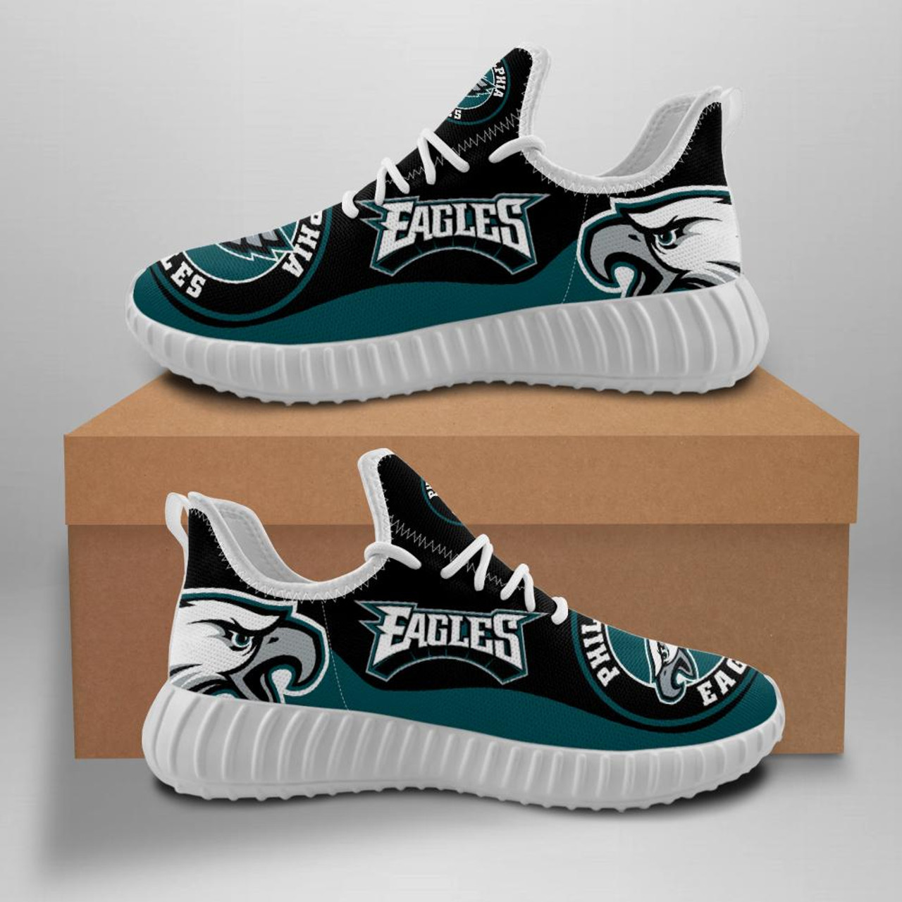 **(OFFICIAL-PHILADELPHIA-EAGLES-TEAM-WHITE-BOTTOM-SOLES-FASHION-FANS-CUSTOM-SPORT-SHOES/CLASSIC-OFFICIAL-CUSTOM-EAGLES-TEAM-3D-LOGOS & CLASSIC-OFFICIAL-EAGLES-MIDNIGHT-BLACK & GREEN-TEAM-COLORS/TRENDY-PREMIUM-EAGLES-TEAM-GAME-DAY-SPORT-SHOES)**