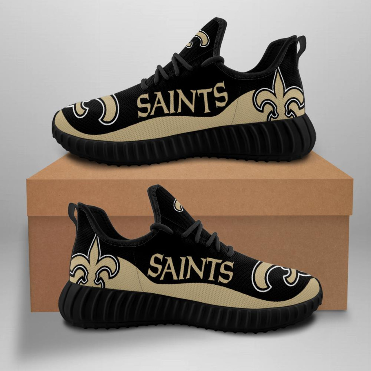 **(OFFICIAL-NEW-ORLEANS-SAINTS-TEAM-BLACK-FASHION-SPORT-SHOES/CUSTOM-DETAILED-3D-GRAPHIC-PRINTED-DOUBLE-SIDED-DESIGN/OFFICIAL-CUSTOM-SAINTS-LOGOS & CLASSIC-OFFICIAL-SAINTS-BLACK & BEIGE-TEAM-COLORS/TRENDY-PREMIUM-N.F.L.SAINTS-TEAM-SPORT-SHOES)**