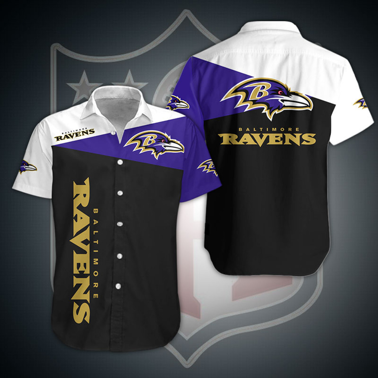 **(OFFICIAL-N.F.L.BALTIMORE-RAVENS-FASHION-BUTTON-DOWN-SPORT-SHIRTS/CUSTOM-3D-GRAPHIC-PRINTED-DETAILED-DOUBLE-SIDED-ALL-OVER/CLASSIC-OFFICIAL-RAVENS-LOGOS & RAVENS-OFFICIAL-TEAM-COLORS/PREMIUM-OFFICIAL-N.F.L.RAVENS-TEAM-BUTTON-UP-SPORT-SHIRTS)**