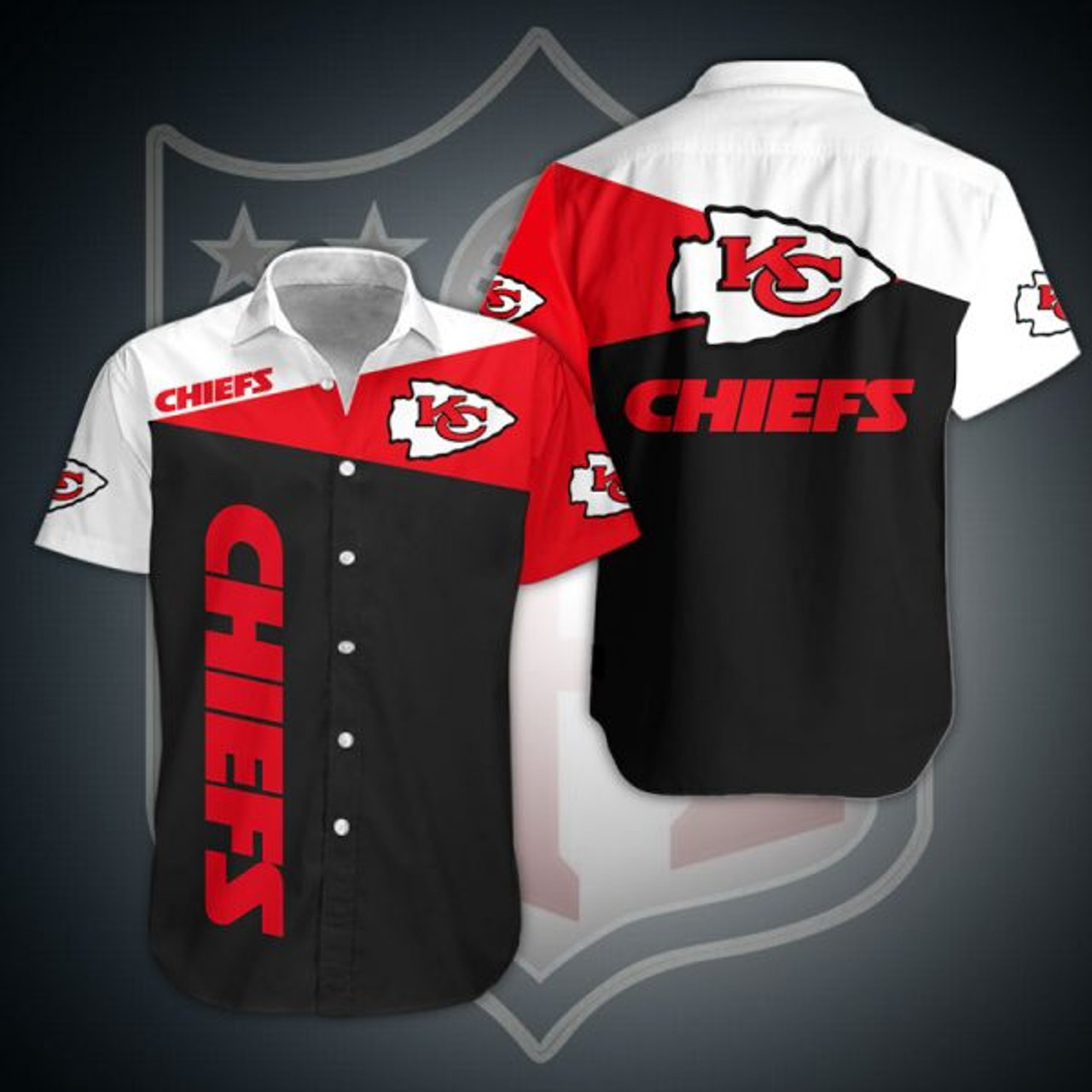 **(OFFICIAL-N.F.L.KANSAS-CITY-CHIEFS-FASHION-BUTTON-FRONT-SPORT-SHIRTS/CUSTOM-3D-GRAPHIC-PRINTED-DETAILED-DOUBLE-SIDED-ALL-OVER/CLASSIC-OFFICIAL-CHIEFS-LOGOS & CHIEFS-OFFICIAL-TEAM-COLORS/PREMIUM-OFFICIAL-N.F.L.CHIEFS-TEAM-BUTTON-UP-SPORT-SHIRTS)**