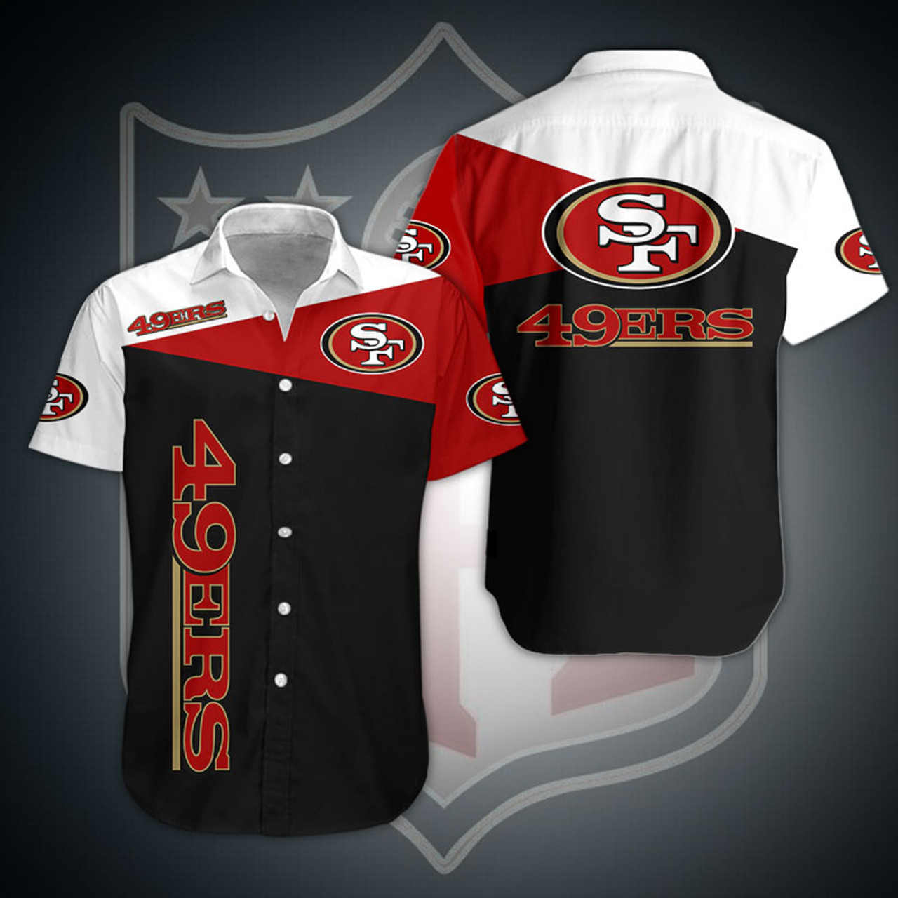 **(OFFICIAL-N.F.L.SAN-FRANCISCO-49ERS-FASHION-BUTTON-FRONT-SPORT-SHIRTS/CUSTOM-3D-GRAPHIC-PRINTED-DETAILED-DOUBLE-SIDED-ALL-OVER/CLASSIC-OFFICIAL-49ERS-LOGOS & OFFICIAL-49ERS-TEAM-COLORS/PREMIUM-OFFICIAL-N.F.L.49ERS-TEAM-BUTTON-FRONT-SPORT-SHIRTS)**