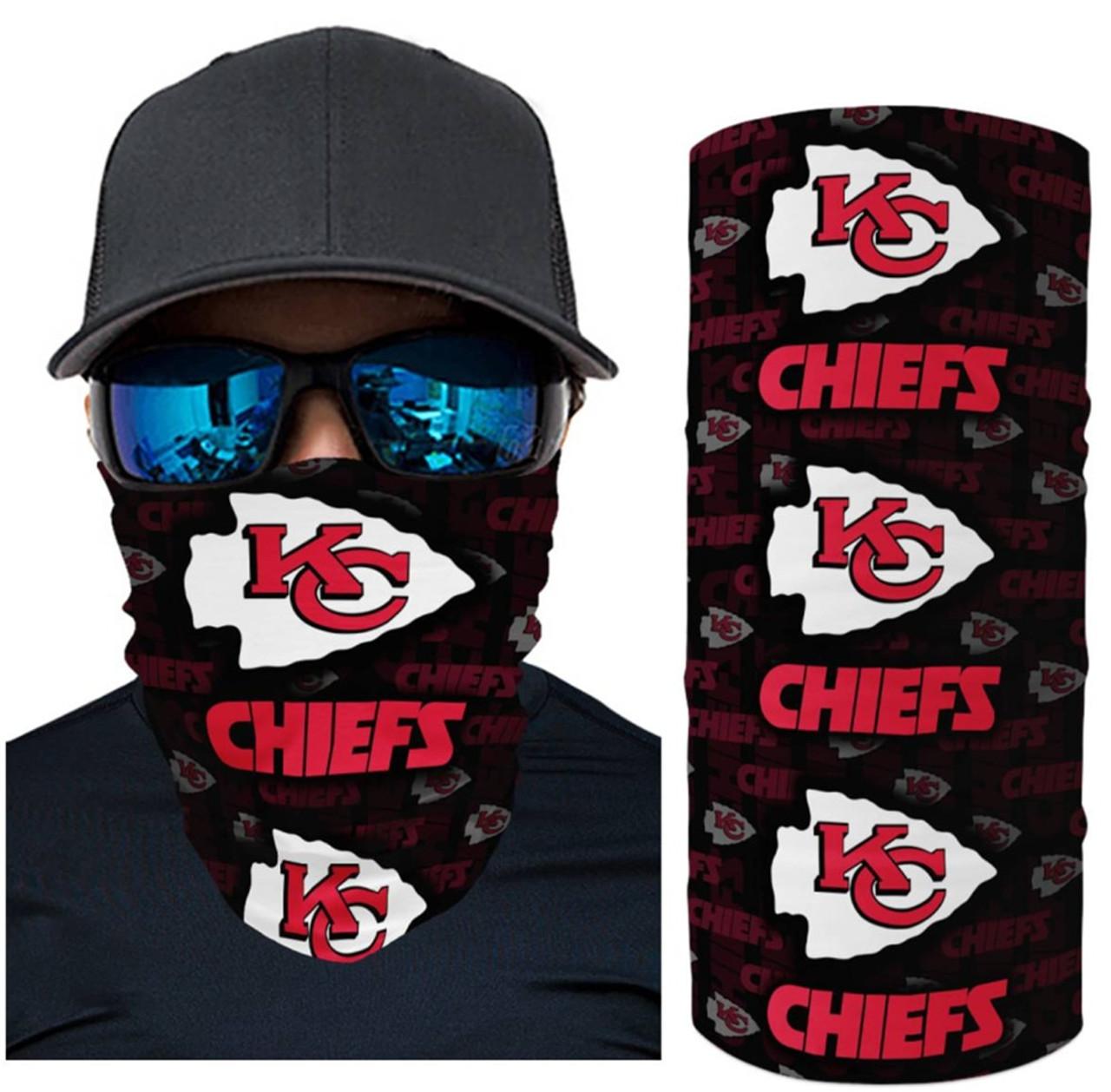 OFFICIAL-N.F.L.KANSAS-CITY-CHIEFS-FACE-MASK & GAITER-NECK-SCARFS/MULTI-USE-NFL.TEAM-SPORT-FACE-MASK!