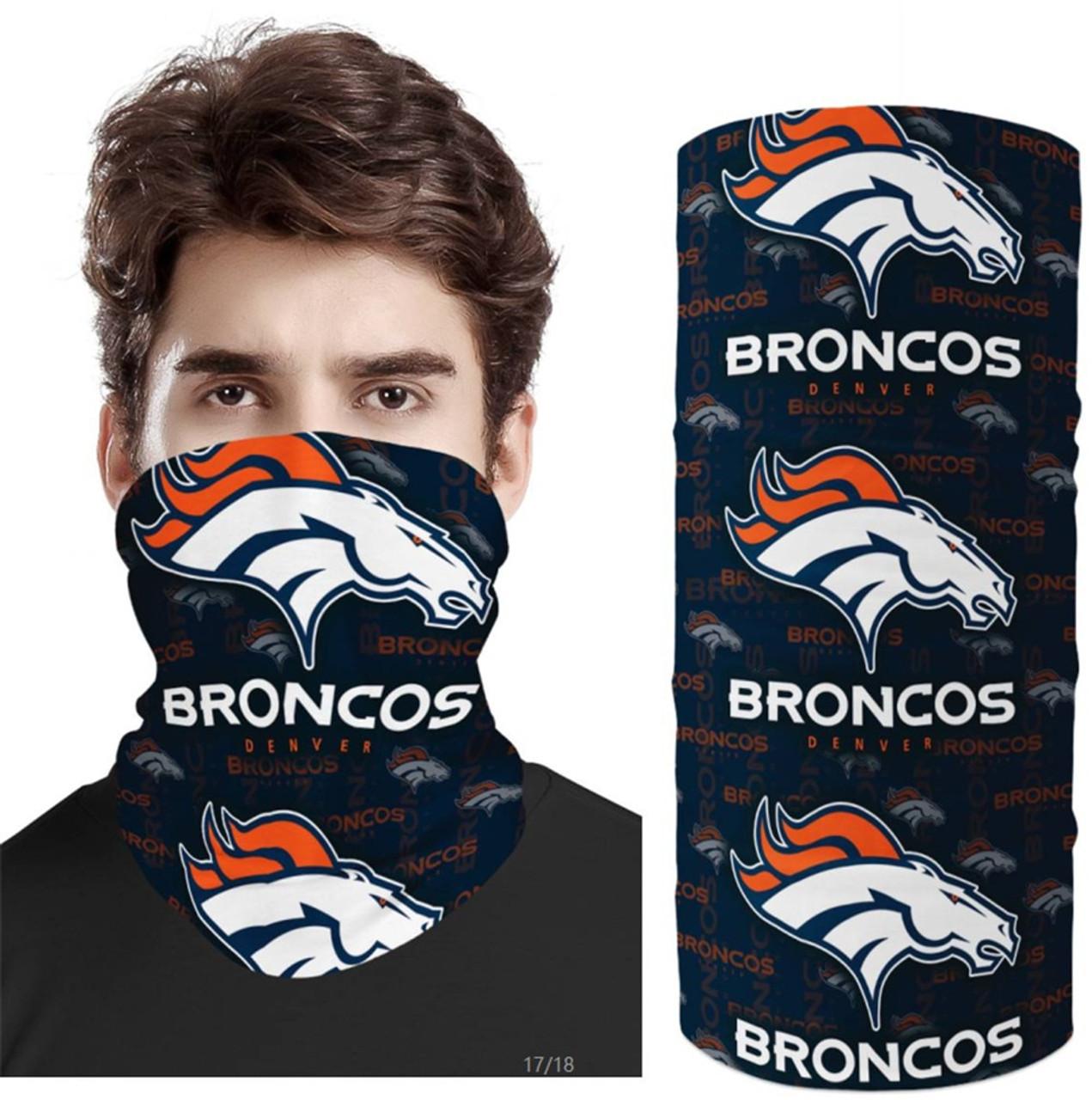 OFFICIAL-N.F.L.DENVER-BRONCOS-TEAM-FACE-MASK & GAITER-NECK-SCARFS/MULTI-USE-NFL.TEAM-SPORT-FACE-MASK!