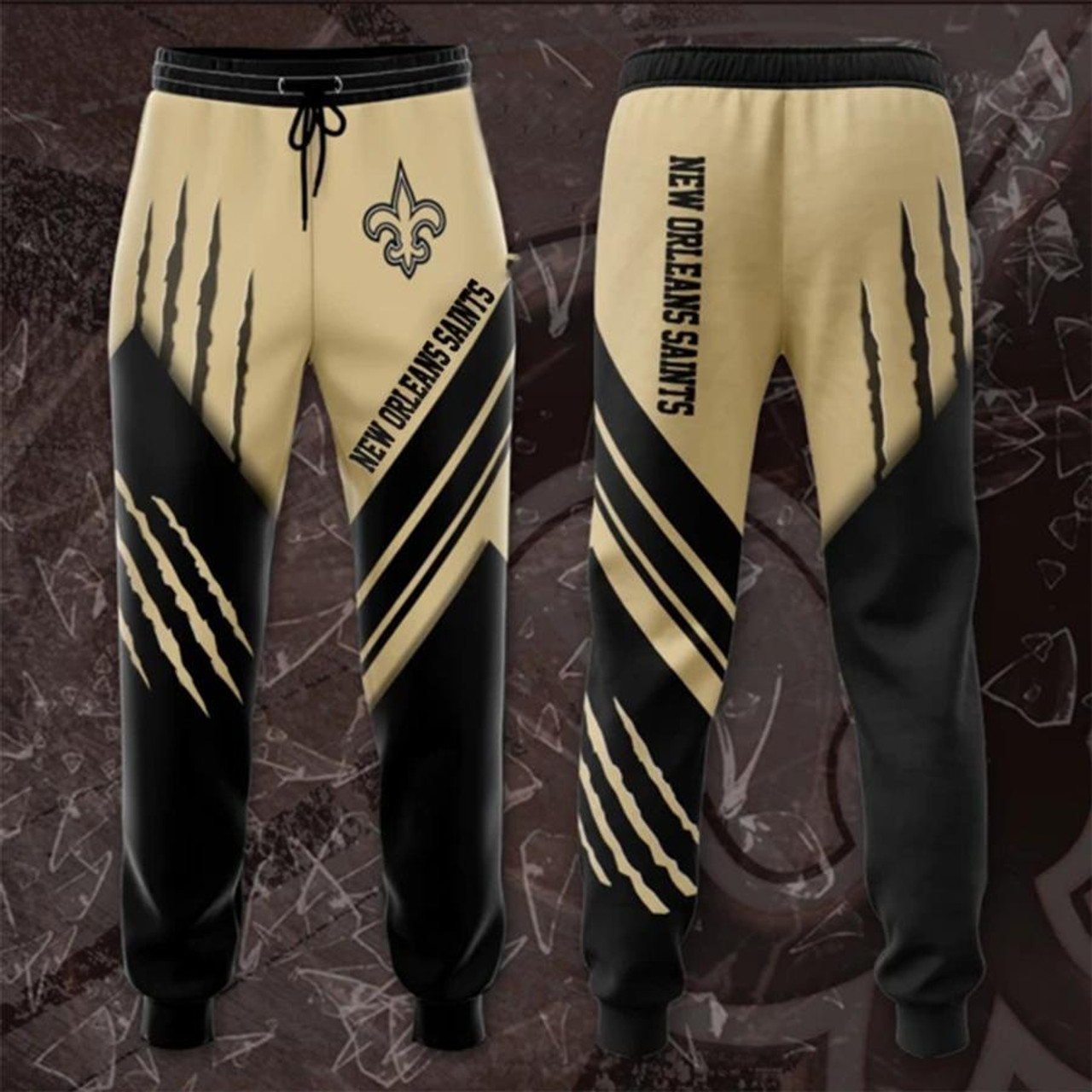 **(OFFICIAL-N.F.L.NEW-ORLEANS-SAINTS-TRENDY-TEAM-SPORT-SWEAT-PANTS & OFFICIAL-SAINTS-TEAM-LOGOS & OFFICIAL-CLASSIC-SAINTS-TEAM-COLORS/CUSTOM-DETAILED-3D-GRAPHIC-DOUBLE-SIDED-PRINTED/WARM-PREMIUM-TRENDY-SAINTS-TEAM/FASHION-GAME-DAY-SWEAT-PANTS)**
