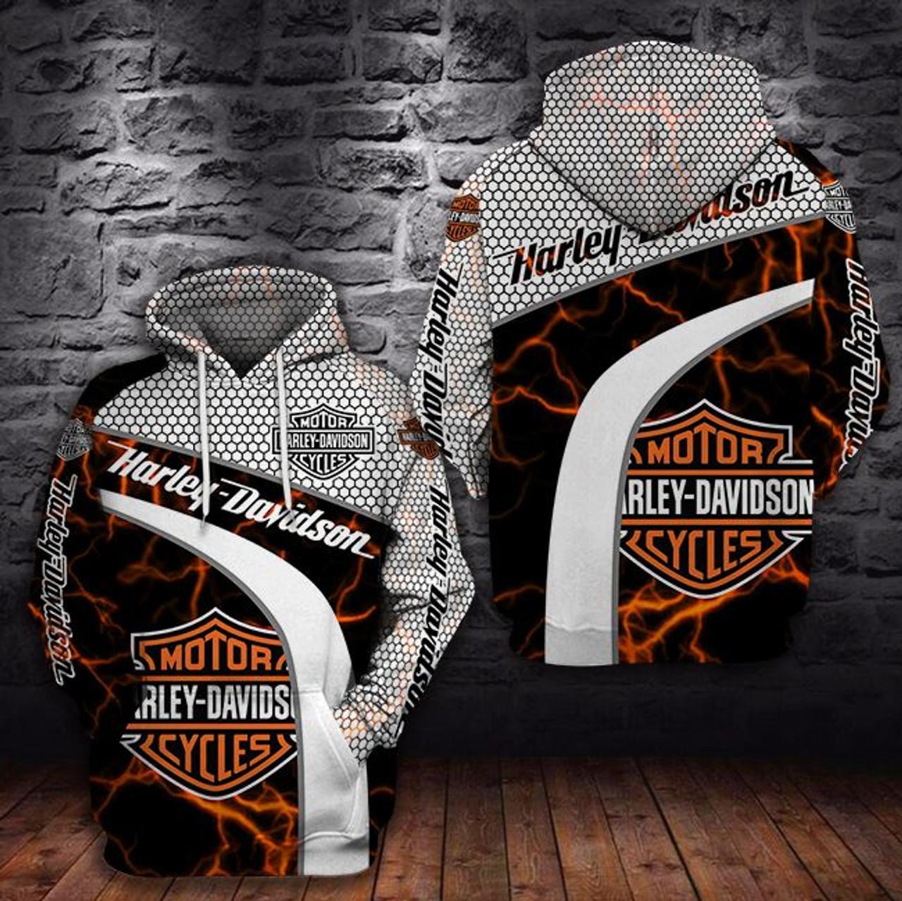 **(HARLEY-DAVIDSON-MOTORCYCLE-BIKER-PULLOVER-HOODIE/NEW-CUSTOMIZED-3D-GRAPHIC-PRINTED-OFFICIAL-HARLEY-DESIGN-LOGOS)**