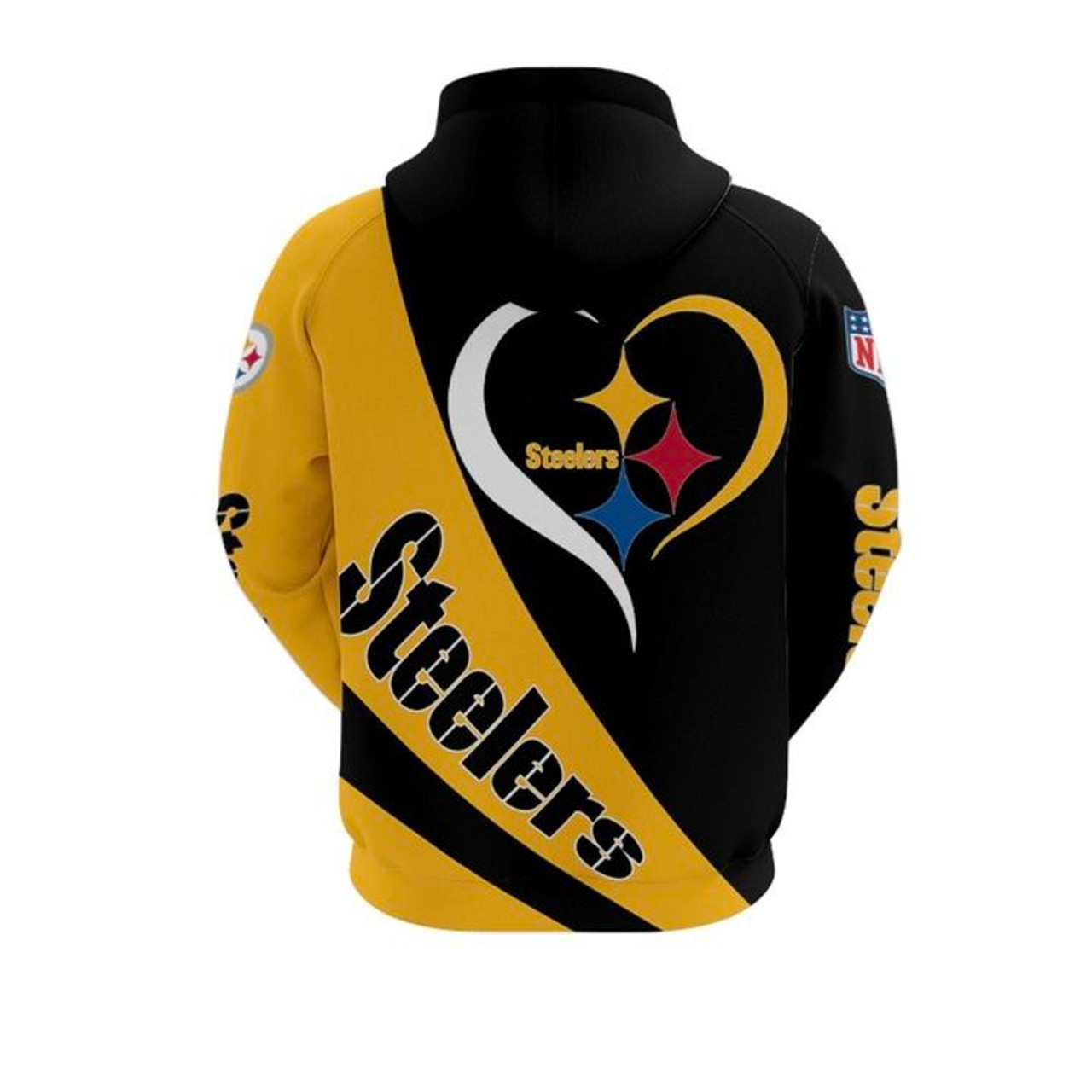 **(NEW-OFFICIAL-N.F.L. PITTSBURGH-STEELERS-TEAM-PULLOVER-HOODIES/CUSTOM-3D-DETAILED-GRAPHIC-PRINTED-DOUBLE-SIDED-STEELERS-HEART-DESIGNS & OFFICIAL-STEELERS-TEAM-COLORS/WARM-PREMIUM-STEELERS-GAME-DAY-TEAM-SPORT-PULLOVER-HOODIES)**