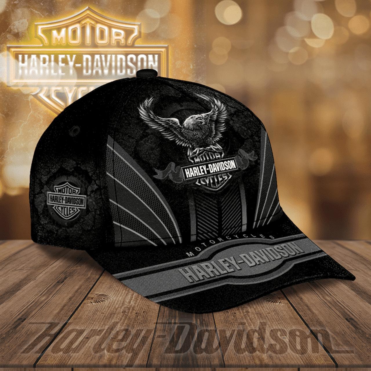 OFFICIAL-HARLEY-DAVIDSON-MOTORCYCLE-BIKER-HATS/CUSTOM-3D-PRINTED-HARLEY-EAGLE!!