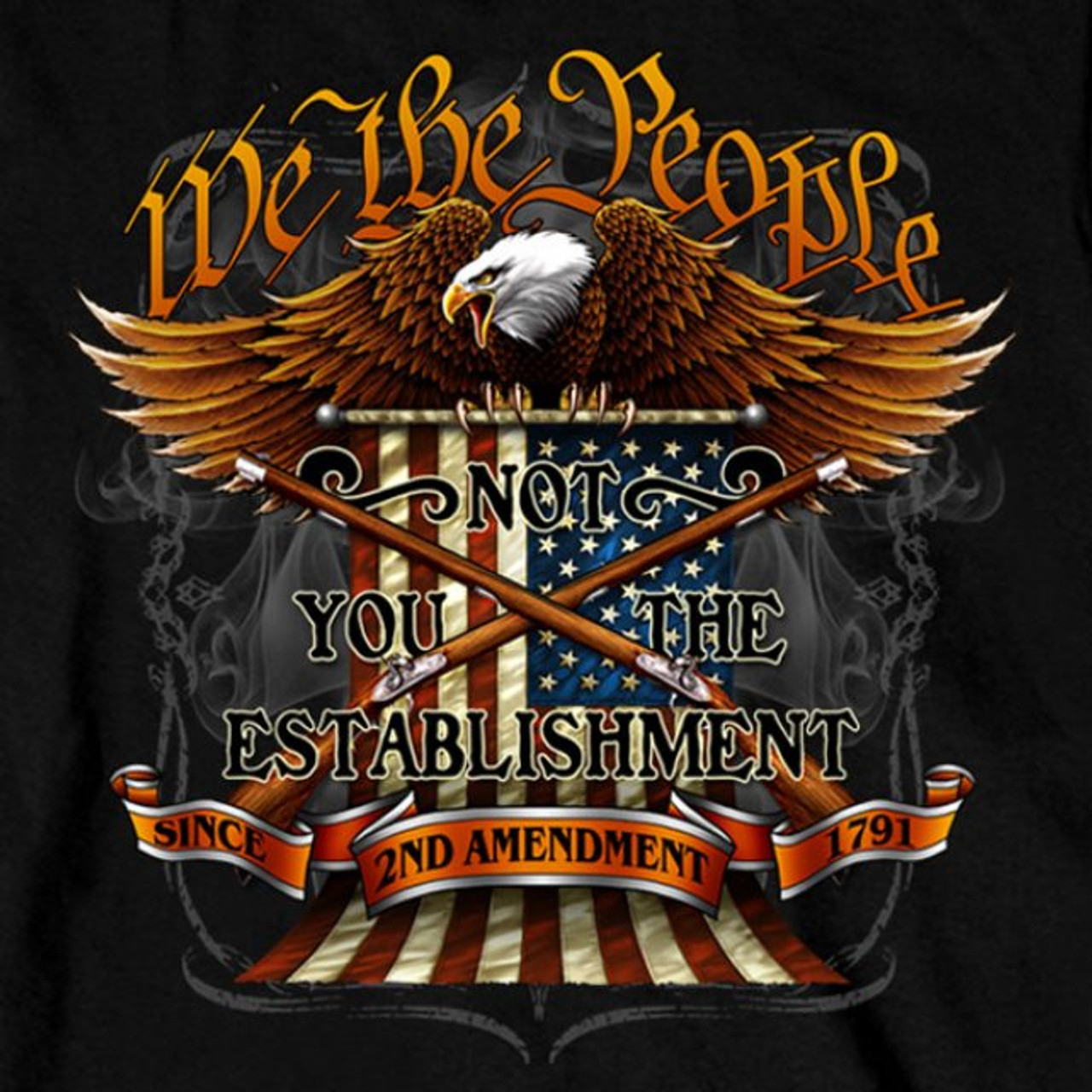 **(OFFICIALLY-LICENSED-NEW/WE-THE-PEOPLE,NOT-YOU-THE-ESTABLISHMENT/SINCE-1791/NICE-GRAPHIC-PRINTED-PREMIUM-DOUBLE-SIDED-LONG-SLEEVE-TEES)**