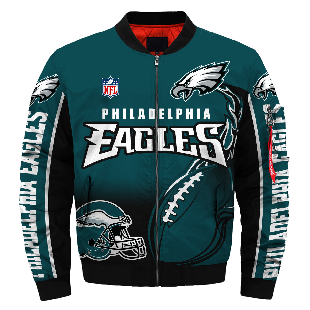 separation shoes 7840b ae60a **(OFFICIAL-NEW-N.F.L.PHILADELPHIA-EAGLES-JACKETS/IN-OFFICIAL-EAGLES-TEAM-COLORS  & OFFICIAL-CLASSIC-EAGLES-LOGOS-BOMBER/FLIGHT-JACKET & ...