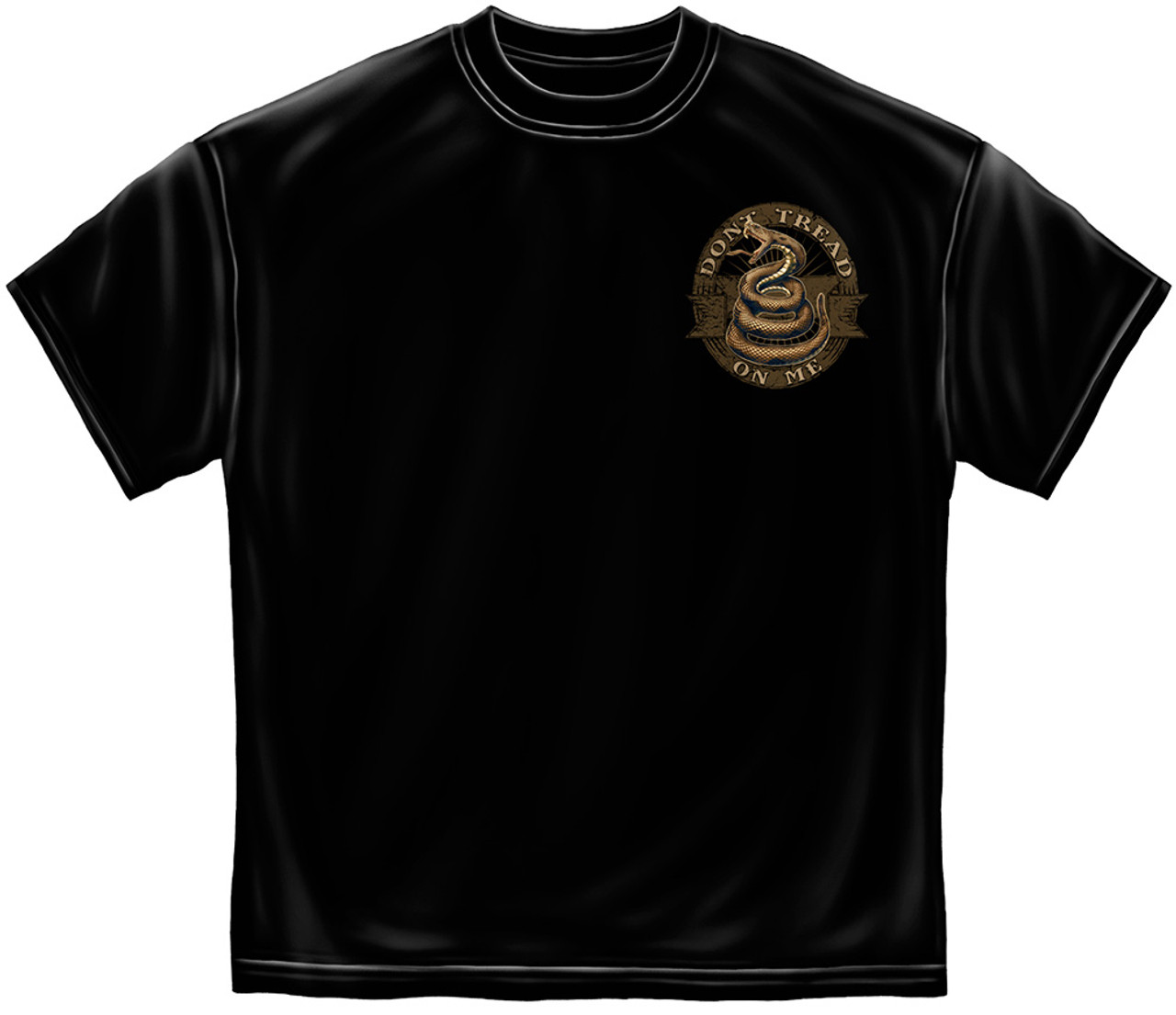 """**(LICENSED-2ND-AMENDMENT,""""DON'T-TREAD-ON-ME & FLAG-WITH-TRADITIONAL-SNAKE-EMBLEM,NICE-CUSTOM-GRAPHIC-PRINTED/PREMIUM-DOUBLE-SIDED-TEES)**"""