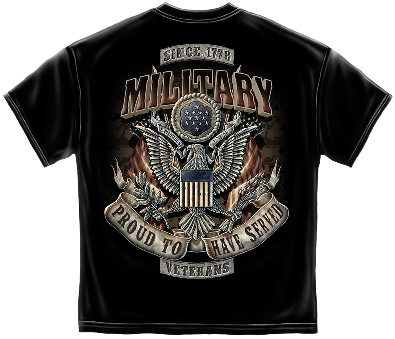 **(OFFICIALLY-LICENSED-MILITARY-VETERANS & PROUD-TO-HAVE-SERVED,SINCE-1778/NICE-CUSTOM-DETAILED-GRAPHIC-PRINTED/PREMIUM-DOUBLE-SIDED-LICENSED-TEES:)**