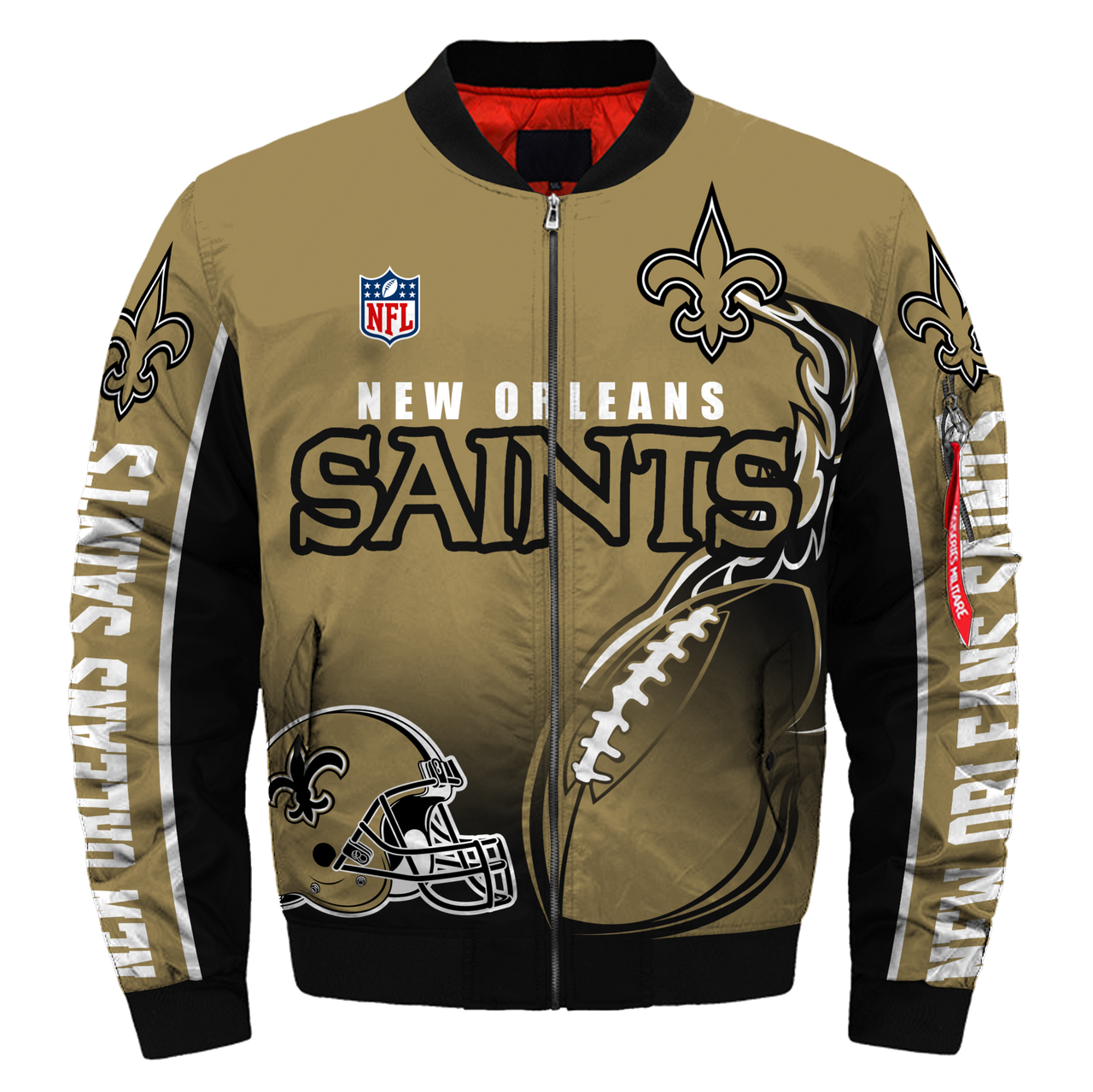 0accef5f6 **(OFFICIAL-NEW-N.F.L.NEW-ORLEANS-SAINTS-JACKETS/IN-OFFICIAL-SAINTS-TEAM-COLORS  ...