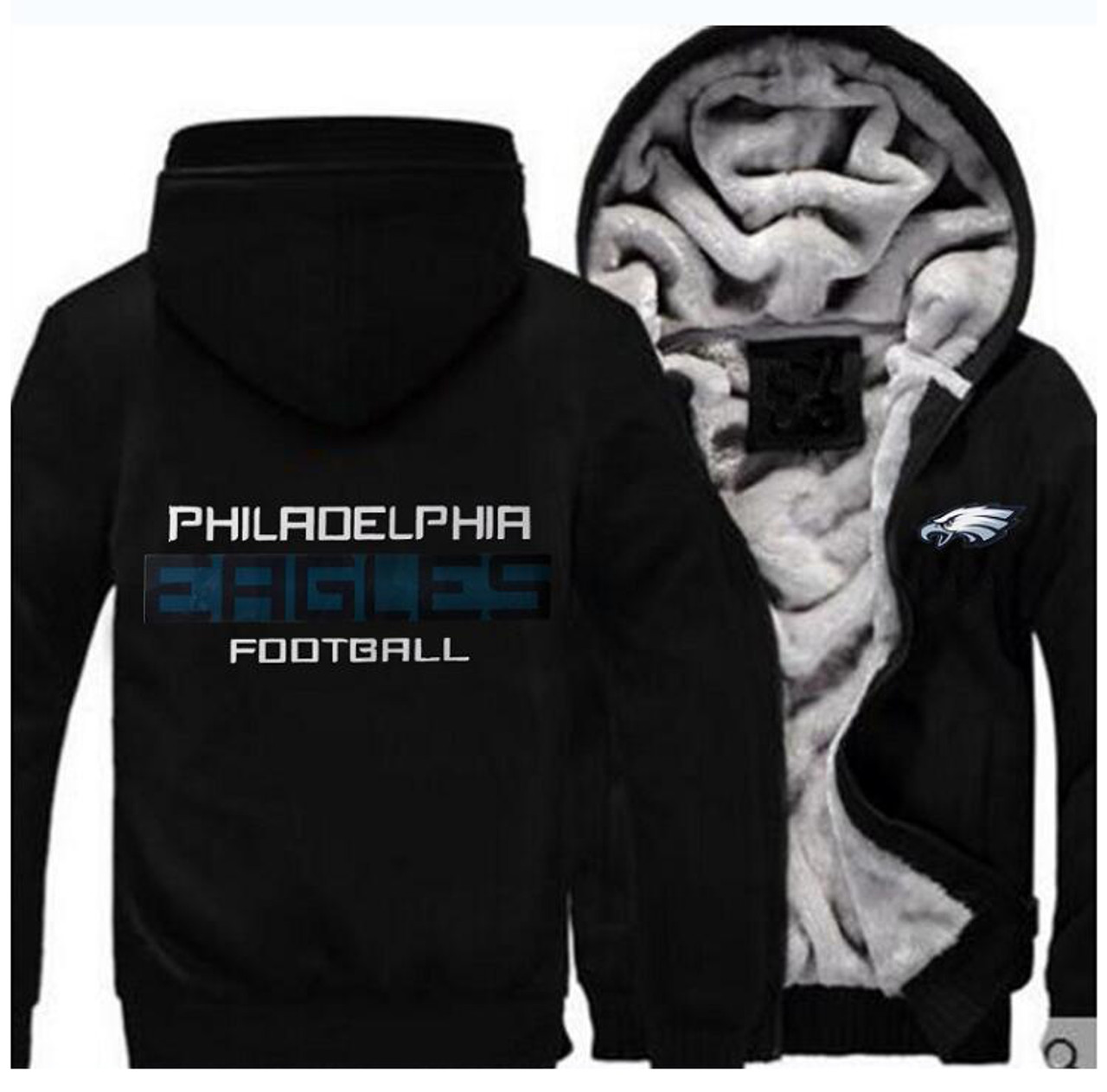 buy popular 8697e 0680b **(EAGLES/NEW-OFFICIALLY-LICENSED-N.F.L.  PHILADELPHIA-EAGLES/NEW-TWO-TONE-STYLE,FLEECE-LINED-TEAM-JACKETS/3-D-CUSTOM-DETAILED-GRAPHIC-PRINTED-DOUBLE-S...