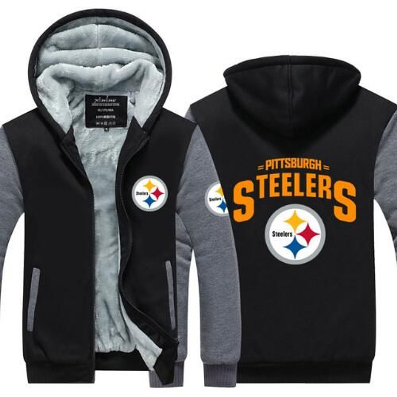 competitive price 5450c 0319d **(STEELERS/NEW-OFFICIALLY-LICENSED-N.F.L.  PITTSBURGH-STEELERS/NEW-TWO-TONE-STYLE,FLEECE-LINED-TEAM-JACKETS/3-D-CUSTOM-DETAILED-GRAPHIC-PRINTED-DOUBLE...