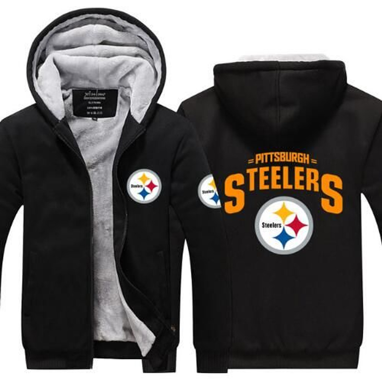 new concept 79bc7 ce2ac **(HOT-NEW-PITTSBURGH-STEELERS/NEW-OFFICIALLY-LICENSED-N.F.L.  PITTSBURGH-STEELERS/NEW-TWO-TONE-STYLE,FLEECE-LINED-TEAM-JACKETS/3-D-CUSTOM-DETAILED-GRA...