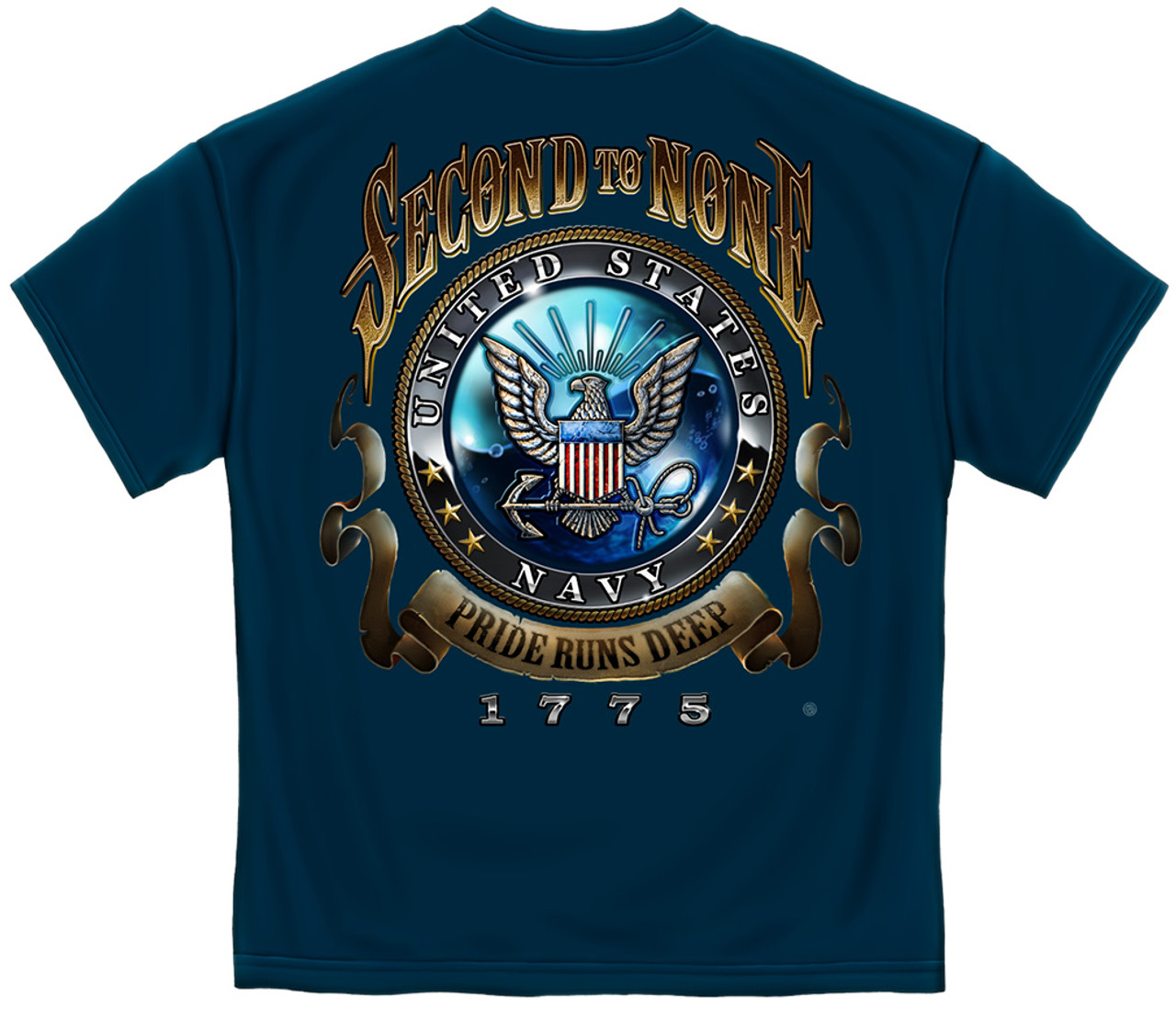 **(OFFICIALLY-LICENSED-U S NAVY/SECOND-TO-NONE,PRIDE-RUNS-DEEP-1775 &  LARGE-OFFICIAL-U S NAVY-SEAL,NICE-DETAILED-CUSTOM-GRAPHIC-PRINTED/PREMIUM-DOUBLE