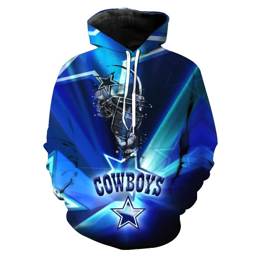 **(N.F.L. DALLAS-COWBOYS,OFFICIALLY-LICENSED-TEAM-HOODIES-IN-TRENDY-BLUE & WHITE/3-D-CUSTOM-DETAILED-GRAPHIC-PRINTED/PREMIUM-WARM-DOUBLE-SIDED-PRINTED-TEAM-DESIGN/OFFICIAL-TEAM-COLOR-POCKETED,PREMIUM-PULLOVER-HOODIES)**