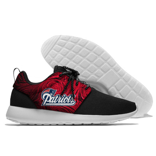 **(NEW-OFFICIALLY-LICENSED-N.F.L.NEW-ENGLAND-PATRIOTS-RUNNING-SHOES,MENS-OR-WOMENS-ROSHE-STYLE,LIGHT-WEIGHT-SPORT-RUNNING-SHOES,WITH-OFFICIAL-N.F.L.PATRIOTS-TEAM-COLORS & TEAM-LOGO,SPECIAL-CUSHIONED-COMFORT-INSOLES,COMES-IN-ALL-SIZES:)**
