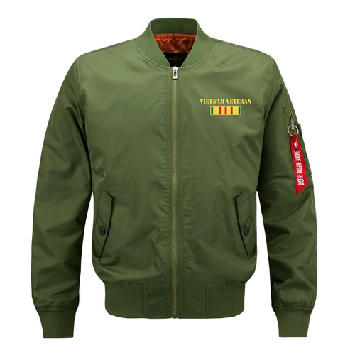 **NEW-OFFICIALLY-LICENSED-U.S. VIETNAM-VETERAN,MENS-HEAVY-WEIGHT-THICK-FLIGHT/BOMBER-JACKETS,WE-WERE-THE-BEST-AMERICA-HAD & BROTHERS-IN-ARMS/U.S. VIETNAM-VETERANS-DOUBLE-SIDED-PRINTED-BOMBER/MA-1 FLIGHT-JACKETS,COMES-IN-OLIVE-GREEN)**