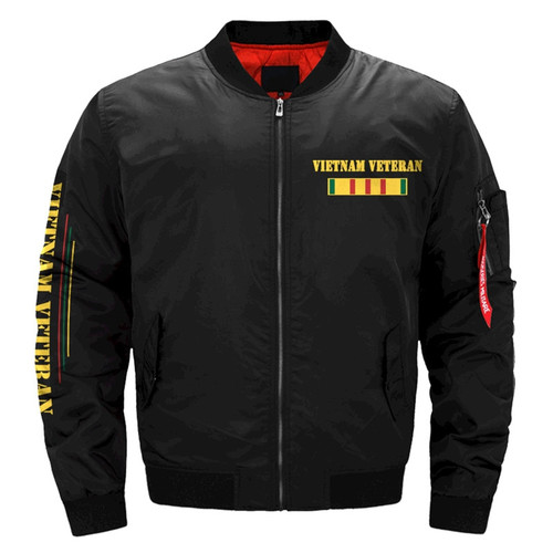 **(NEW-OFFICIAL-U.S.VIETNAM-VETERAN-FLIGHT-BOMBER-JACKETS/WE-WERE-THE-BEST-AMERICA-HAD & BROTHERS-IN-ARMS/U.S. VIETNAM-VETERANS-DOUBLE-SIDED-PRINTED-BOMBER/MA-1 FLIGHT-JACKETS-IN-MIDNIGHT-BLACK)**