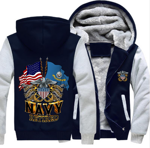 **(NEW-OFFICIALLY-LICENSED-U.S. NAVY-RETIRED-HOODIES,DOUBLE-FLAGS-DISPLAY & OFFICIAL-NAVY-ANCHORS,NICE-CUSTOM-GRAPHIC-PRINTED/DOUBLE-SIDED-HEAVY-FLEECE-ZIPPER-UP-HOODIES)**