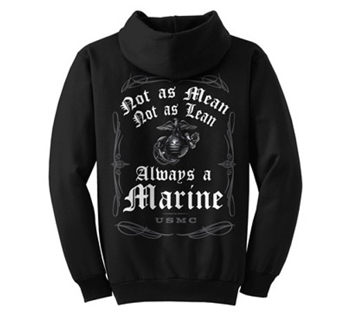 """**(OFFICIALLY-LICENSED-U.S.M.C.""""NOT-AS-LEAN & NOT-AS-MEAN,BUT-ALWAYS-A-MARINE,U.S.M.C./U.S.MARINES-GLOBE & ANCHOR/NEW-DETAILED-PREMIUM-GRAPHIC-PRINTED/NICE-DOUBLE-SIDED-DESIGN-OFFICIAL-MARINE-TEES)**"""