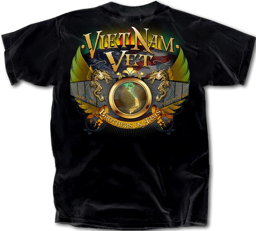 """**(OFFICIALLY-LICENSED-VIETNAM-VETERANS-TEE,""""BROTHERS-IN-ARMS/YOU-ARE-NOT-FORGOTTEN"""",VIETNAM-COMBAT-RIBBON,NEW-PREMIUM-DETAILED-GRAPHIC-PRINTED-DESIGN/DOUBLE-SIDED-PRINTED-OFFICIAL-VETERAN-TEES)**"""
