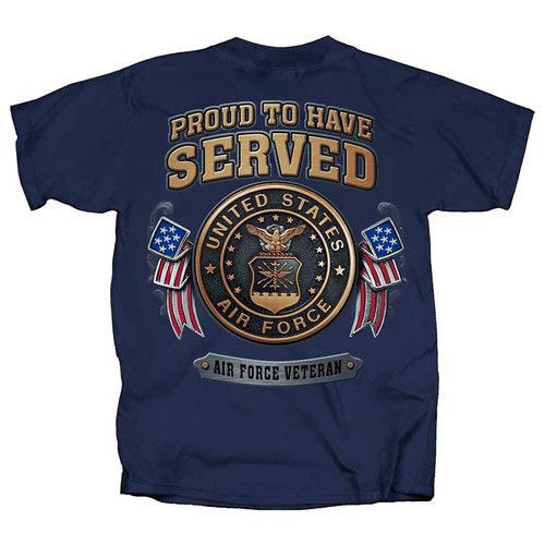 **(OFFICIALLY-LICENSED-U.S.AIR-FORCE-VETERAN,PROUD-TO-HAVE-SERVED & OFFICIAL-AIR-FORCE-SHIELD-LOGO,NICE-DETAILED-GRAPHIC-PRINTED/PREMIUM-DOUBLE-SIDED-U.S.AIR FORCE-VETERAN-TEES)**