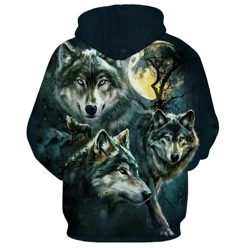 **(NEW-GRAPHIC-PRINTED-3D-FULL-MOON-WOLF-IN-THE-WILD/BIG-DEEP-FULL-MOON-BACKGROUND,NICE-PREMIUM-GRAPHIC-PRINTED-3D/DOUBLE-SIDED-PULLOVER-HOODIES)**