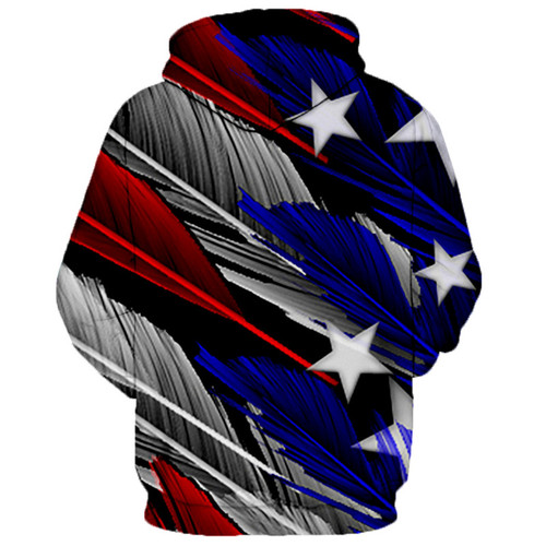 **(NEW-GRAPHIC-PRINTED-3D-OFFICIAL-RED,WHITE & BLUE-PATRIOT-FLAG/WITH-STARS & STRIPES,NICE-PREMIUM-GRAPHIC-PRINTED-3D/DOUBLE-SIDED-PULLOVER-HOODIES)**