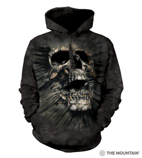 **(OFFICIALLY-LICENSED-THE-MOUNTAIN/FIERCE-BREAK-THROUGH-SKULL,JERSEY-LINED-WARM-PULLOVER-HOODIES,NICE-DETAILED-PREMIUM-GRAPHIC-PRINTED-FANTASY-UNISEX-HOODIES)**