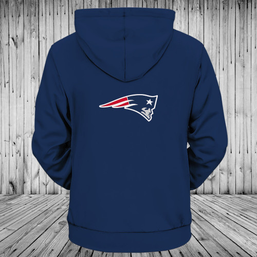 **(OFFICIALLY-LICENSED-N.F.L.NEW-ENGLAND-PATRIOTS-ZIPPER-UP-FRONT-HOODIES/GRAPHIC-3D-PRINTED-IN-PATRIOTS-TEAM-COLORS/NICE-DETAILED-PREMIUM-DOUBLE-SIDED-PRINTED,WARM-ZIP-UP-FRONT-OFFICIAL-N.F.L.PATRIOTS-TEAM-HOODIES)**