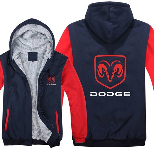 **(DODGE-RAM/NEW-OFFICIALLY-LICENSED-DODGE-RAM,NEW-TWO-TONE-STYLE/TRENDY-RED & BLUE-WARM-FLEECE-LINED-JACKETS/3-D-CUSTOM-LOGO,DETAILED-GRAPHIC-PRINTED-DOUBLE-SIDED-DODGE-RAM-LOGOS/ZIP-UP-FRONT-WARM-PREMIUM-FLEECE-JACKETS)**