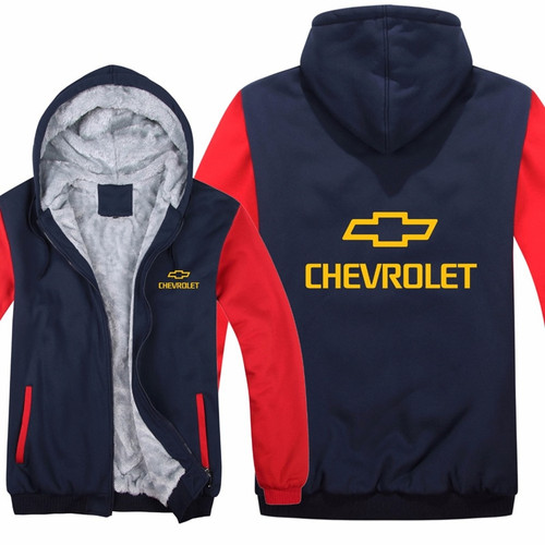 **(NEW-OFFICIALLY-LICENSED-CHEVY,NEW-TWO-TONE-STYLE/TRENDY-BLUE & RED,WARM-FLEECE-LINED-JACKETS/3-D-CUSTOM-YELLOW-CHEVY-LOGO,DETAILED-GRAPHIC-PRINTED-DOUBLE-SIDED-CHEVY-LOGOS/ZIP-UP-FRONT-WARM-PREMIUM-FLEECE-JACKETS)**