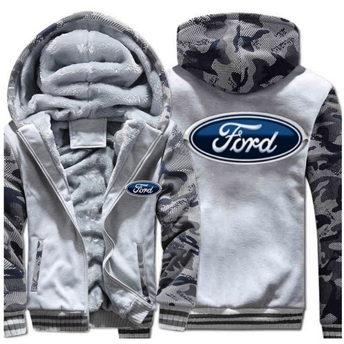 **(NEW-OFFICIALLY-LICENSED-FORD,NEW-TWO-TONE-STYLE/TRENDY-LITE-HEATHER-GREY & CITY-CAMO,WARM-FLEECE-LINED-JACKETS/3-D-CUSTOM-CLASSIC-BLUE-FORD-LOGO,DETAILED-GRAPHIC-PRINTED-DOUBLE-SIDED-FORD-LOGOS/ZIP-UP-FRONT-WARM-PREMIUM-FLEECE-JACKETS)**