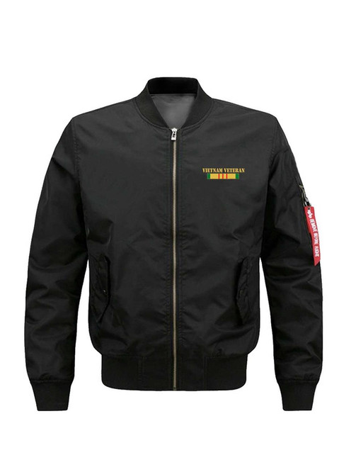 **(NEW-OFFICIALLY-LICENSED-U.S. VIETNAM-VETERANS,MENS-HEAVY-WEIGHT-THICK-BOMBER-FLIGHT-JACKETS/ALL-GAVE-SOME & SOME-GAVE-ALL/WITH-VIETNAM-VETERAN-COMBAT-RIBBONS,NICE-CUSTOM-3D-GRAPHIC-DOUBLE-SIDED-PRINTED-BOMBER/MA-1 FLIGHT-JACKETS)**