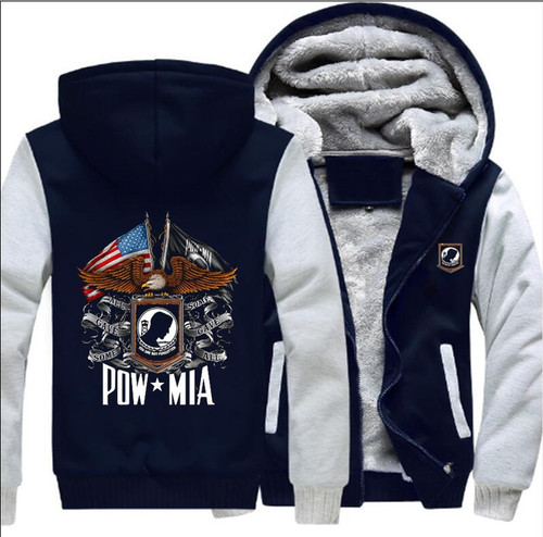 **(OFFICIALLY-LICENSED-MILITARY-P.O.W. & M.I.A.ZIP-UP-FRONT-FLEECE-HOODIES, P.O.W. & M.I.A.DOUBLE-FLAGS & EAGLE,NICE-CUSTOM-3D-GRAPHIC-PRINTED/DOUBLE-SIDED-PREMIUM-WARM-FLEECE-VETERANS-HOODIES:)**