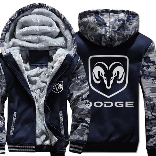 **(NEW-OFFICIALLY-LICENSED-DODGE,NEW-TWO-TONE-STYLE/TRENDY-NAVY-BLUE & CITY-CAMO,WARM-FLEECE-LINED-JACKETS/3-D-CUSTOM-CLASSIC-DODGE-RAM-LOGO,DETAILED-GRAPHIC-PRINTED-DOUBLE-SIDED-DODGE-LOGOS/ZIP-UP-FRONT-WARM-PREMIUM-FLEECE-JACKETS)**