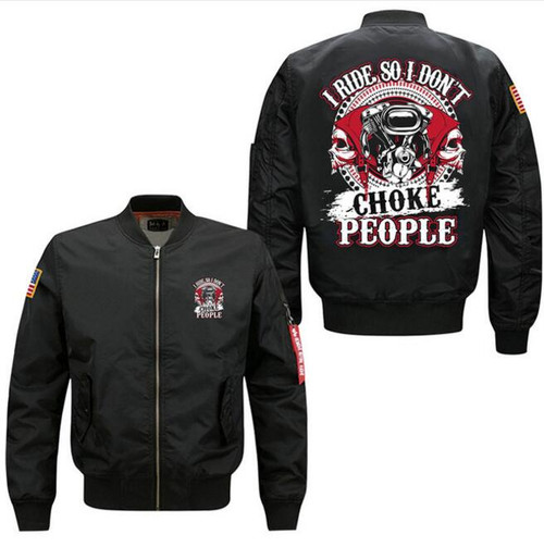 **(NEW-OFFICIAL-BIKER-FLIGHT-JACKETS/I-RIDE-SO-I-DON'T-CHOKE-PEOPLE & V-TWIN-ENGINES/BIKER-SKULLS,NICE-PREMIUM-CUSTOM-3D-GRAPHIC-PRINTED,DOUBLE-SIDED-BOMBER/MA-1 FLIGHT-JACKETS,COMES-IN-CLASSIC-MIDNIGHT-BLACK)**