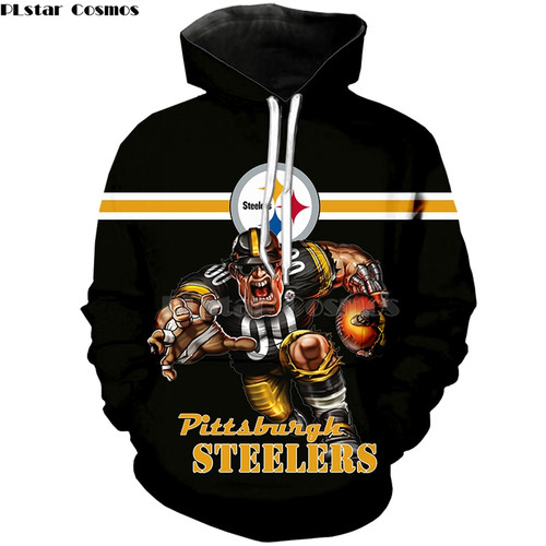 **(OFFICIAL-N.F.L.PITTSBURGH-STEELERS/BIG-3D-STEELERS-WINING-TOUCH-DOWN,RUNNING-QUARTER-BACK & CLASSIC-PITTSBURGH-STEELERS-LOGO,PREMIUM-3D-GRAPHIC-ALL-OVER-PRINTED/DOUBLE-SIDED-WARM-PULLOVER,N.F.L. STEELERS-TEAM-COLORED-HOODIES)**