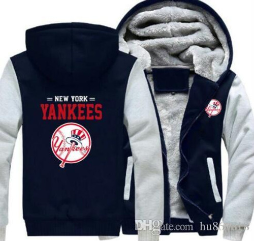 **(OFFICIAL-NEW-YORK-YANKEES,PREMIUM-ZIP-UP-FRONT-HOODIES/THICK-FLEECE-INNER-LINED & IN-MIDNIGHT-BLACK & LITE-GREY-TWO-TONE-COLOR/3D-GRAPHIC-DOUBLE-SIDED-PRINTING,WITH-OFFICIAL-CLASSIC-YANKEES-LOGO-ON-BOTH-SIDES)**