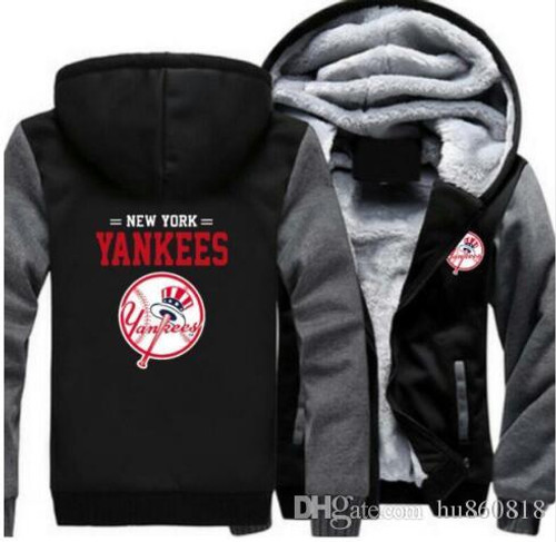 **(OFFICIAL-NEW-YORK-YANKEES,PREMIUM-ZIP-UP-FRONT-HOODIES/THICK-FLEECE-INNER-LINED & IN-MIDNIGHT-BLACK & DARK-GREY-TWO-TONE-COLOR/3D-GRAPHIC-DOUBLE-SIDED-PRINTING,WITH-OFFICIAL-CLASSIC-YANKEES-LOGO-ON-BOTH-SIDES)**