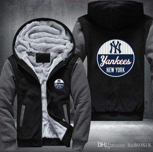 **(OFFICIAL-NEW-YORK-YANKEES,PREMIUM-FRONT-ZIP-UP-HOODIES/WARM-THICK-FLEECE-INNER-LINED & IN-TRENDY-MIDNIGHT-BLACK & DARK-GREY-TWO-TONE-COLOR/CUSTOM-3D-GRAPHIC-DOUBLE-SIDED-PRINTING,WITH-OFFICIAL-CLASSIC-YANKEES-LOGO-ON-BOTH-SIDES)**