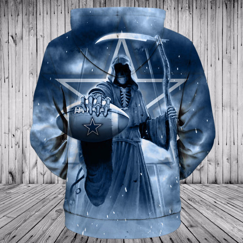 **(OFFICIALLY-LICENSED-N.F.L.DALLAS-COWBOYS,PULLOVER-HOODIES & GRIMM-REAPER-IN-SUDDEN-DEATH-FOOTBALL,NICE-CUSTOM-3D-GRAPHIC-PRINTED-ALL-OVER/DOUBLE-SIDED-COWBOYS-FOOTBALL-LOGO-TEAM,PREMIUM-PULLOVER-POCKET-HOODIES:)**