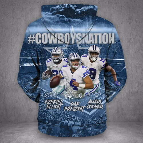 **(OFFICIALLY-LICENSED-N.F.L.DALLAS-COWBOYS-NATION & DAK-PRESCOTT-NO.4-STYLISH-PULLOVER-HOODIES/NICE-CUSTOM-3D-GRAPHIC-PRINTED-DOUBLE-SIDED-ALL-OVER-GRAPHICS,IN-COWBOYS-TEAM-COLORS/WARM-PREMIUM-OFFICIAL-N.F.L.COWBOYS-TEAM-PULLOVER-POCKET-HOODIES)**