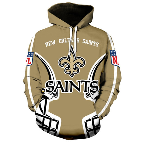 **(OFFICIALLY-LICENSED-N.F.L.NEW-ORLEANS-SAINTS-PULLOVER-HOODIES/ALL-OVER-3D-GRAPHIC-PRINTED-IN-SAINTS-LOGOS & OFFICIAL-TEAM-COLORS/NICE-DETAILED-PREMIUM-DOUBLE-SIDED-PRINT,WARM-PULLOVER-DEEP-POCKETED-OFFICIAL-SAINTS-TEAM-HOODIES)**