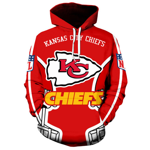 **(OFFICIALLY-LICENSED-N.F.L.KANSAS-CITY-CHIEFS-PULLOVER-HOODIES/ALL-OVER-3D-GRAPHIC-PRINTED-IN-CHIEFS-LOGOS & OFFICIAL-TEAM-COLORS/NICE-DETAILED-PREMIUM-DOUBLE-SIDED-PRINT,WARM-PULLOVER-DEEP-POCKETED-OFFICIAL-CHIEFS-TEAM-HOODIES)**