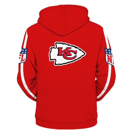 **(OFFICIALLY-LICENSED-N.F.L.KANSAS-CITY-CHIEFS-ZIPPER-UP-HOODIES/ALL-OVER-3D-GRAPHIC-PRINTED-IN-CHIEFS-LOGOS & OFFICIAL-TEAM-COLORS/NICE-DETAILED-PREMIUM-DOUBLE-SIDED-PRINT,WARM-ZIPPER-UP-THE-FRONT-OFFICIAL-CHIEFS-N.F.L.TEAM-HOODIES)**